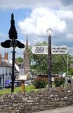 Village Centre, Weobley. Royalty Free Stock Photo
