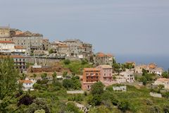 Village of Cervione, Castagnicca, Costa Verde, Northern Corsica, France Royalty Free Stock Photography