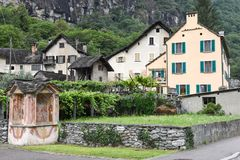 The village of Cevio on Maggia valley Royalty Free Stock Photography
