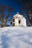 Village chapel in winter countryside Stock Photography