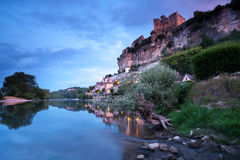 Village and chateau of Beynac Dordogne France Stock Photo