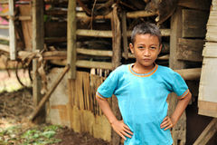 Village Child Outdoor Stock Images
