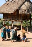 Village children in Laos stock images