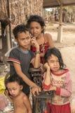 Village children Cambodia near Siem Reap Royalty Free Stock Photography