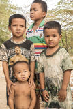 Village children Cambodia near Siem Reap Stock Images