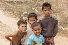 Village children Cambodia near Siem Reap Royalty Free Stock Photo