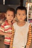 Village children Cambodia near Siem Reap Stock Image