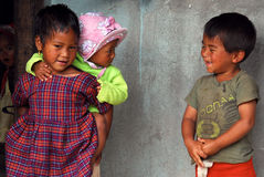 Village children at Northeast India Stock Photos
