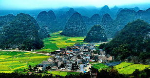A village in China. A village in the north China, spring royalty free stock photography