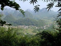Village in China. Rural village in China stock photos