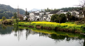 Village in china. A typical village in eastern china. Photo was taken on Feb 2012 Royalty Free Stock Image