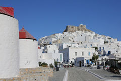 The village Chora on Astypalaia, Greece Royalty Free Stock Image
