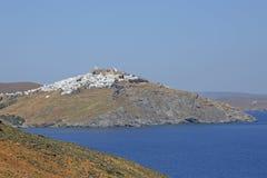 Village Chora on the greek island Astypalaia Royalty Free Stock Image