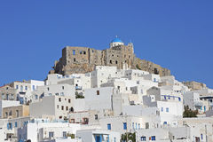 The village Chora on the greek island Astypalaia Stock Photography