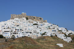 The village Chora on the greek island Astypalaia Royalty Free Stock Photos