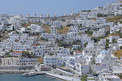 The village Chora on the greek island Astypalaia Stock Images