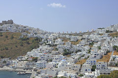 Village Chora on the greek island Astypalea Stock Image