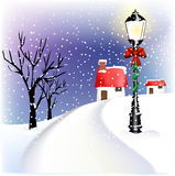 Village Christmas lantern Royalty Free Stock Photos