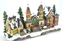 Village of Christmas in plaster. Stock Image
