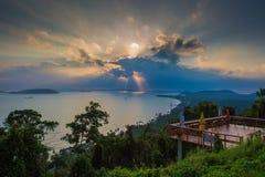 Village Chumphon, Thaïlande de Paknam Chumphon Photographie stock