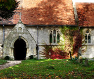 Village Church. Autumnal view of a Rural Village Chruch in England Stock Image