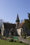 Village church. Rural village church on sunny spring morning Stock Photo