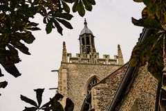 Village Church. All Saints Village Church with an unusual feature at the top of the tower Royalty Free Stock Photo
