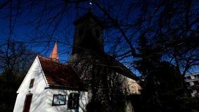 Village church in Berlin-Lichterfelde, Germany stock video footage