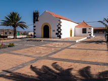 Village Church in the Canary Islands Stock Photography