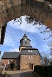Village church of Herleshausen in northern Hesse Germany. The village church of Herleshausen in northern Hesse Germany Stock Images
