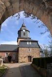 Village church of Herleshausen in northern Hesse Germany. The village church of Herleshausen in northern Hesse Germany Royalty Free Stock Photo