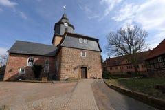 Village church of Herleshausen in northern Hesse Germany. The village church of Herleshausen in northern Hesse Germany Royalty Free Stock Photos
