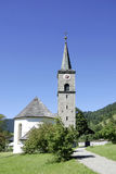 Village church of Hinterstein in the Allgaeu Alps Stock Photos