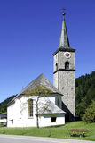Village church of Hinterstein in the Allgaeu Alps Royalty Free Stock Images