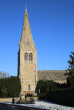 Traditional historic Church of England Church. Scenic view of the traditional English dhurch in the villate of Leasingham, Lincolnshire, U.K royalty free stock photo