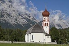 Village church in Leutasch Royalty Free Stock Image