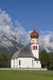 Village church in Leutasch Royalty Free Stock Photo