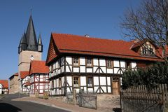 Village church of Netra in northern Hessen Germany. The village church of Netra in northern Hessen Germany Stock Images