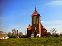 Village church in Poland Royalty Free Stock Images