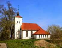 Village church in Poland Stock Image