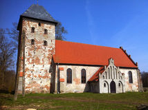 Village church in Poland Stock Photo