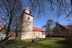 Village church of Röhrda in northern Hesse. The village church of Röhrda in northern Hesse Royalty Free Stock Photos