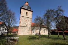 Village church of Röhrda in northern Hesse. The village church of Röhrda in northern Hesse Royalty Free Stock Photo