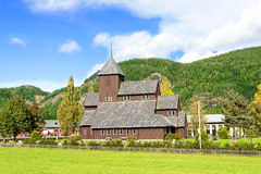 Village church in Scandinavia Royalty Free Stock Image