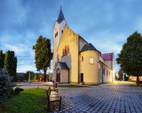 Village church in Slovakia, Cifer Stock Images