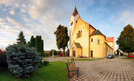 Village church in Slovakia, Cifer Royalty Free Stock Images