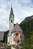 Village church Slovenia Alps Stock Photo