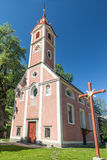 Village church in South Tyrol Royalty Free Stock Photo