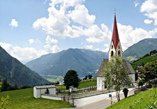 A village church in Southtyrol Stock Image