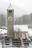 Village Church, Switzerland Stock Image